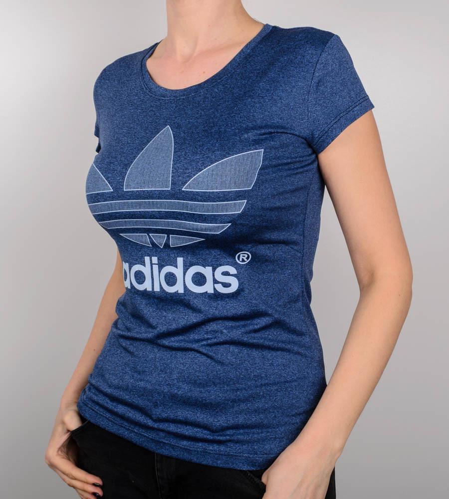 Футболка женская спортивная Adidas (1929ж), Мулине синий