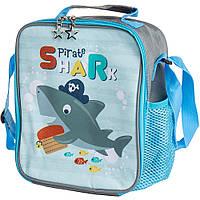 """🔝 Сумка-холодильник для еды """"Акула"""" детская термо-рюкзак для детей в школу, термосумка для обедов   🎁%🚚"""