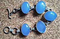 """Браслет з блакитним халкидоном """"Хмари"""" від студії LadyStyle.Biz, фото 1"""