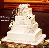 Топпер-инициалы в стразах для свадебного торта (уточняйте сроки) Т3