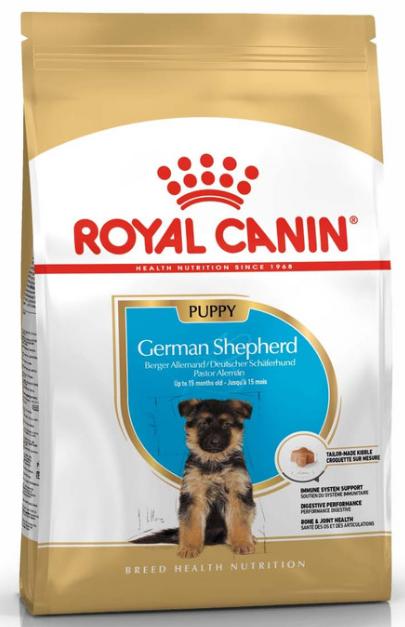 Сухой корм Royal Canin (Роял Канин) GERMAN SHEPHERD PUPPY для щенков Немецкой овчарки до 15 месяцев, 12 кг