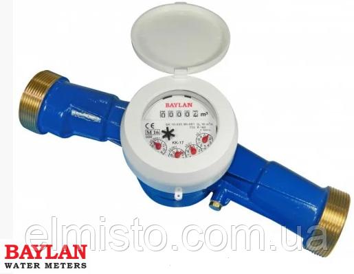 Счетчик холодной воды BAYLAN КК-15 Dn25 Qn6,3 м3/ч, L=260мм, R=160 сухоход (без КМЧ) Турция
