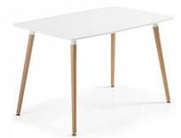 Стіл обідній Нурі 120х80, білий