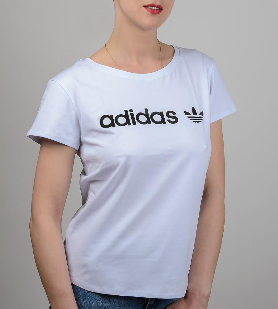 Футболка жіноча вільного крою Adidas (2017жс), Білий