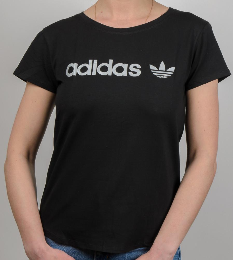 Футболка жіноча вільного крою Adidas (2017жс), Чорний