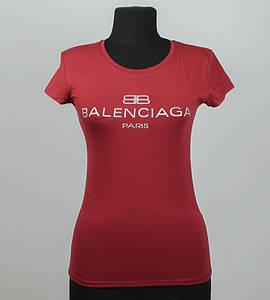 Футболка женская спортивная Balenciaga (2018ж), Бордовый