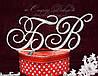 Топпер-инициалы в стразах для свадебного торта (уточняйте сроки) Т21