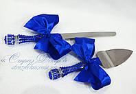 Приборы для торта (нож и лопатка) с ручками в стразах Сапфир (уточняйте сроки) П9