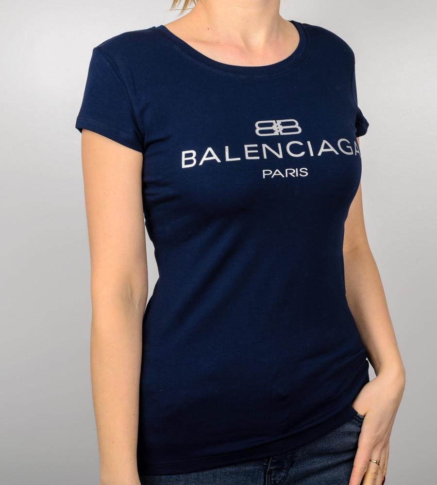 Футболка жіноча спортивна Balenciaga (2018ж), Т. Синій