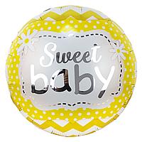 Фольгированный шар 18' Китай Sweet baby, 45 см