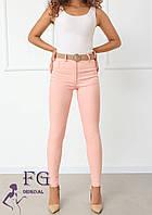 Брюки тонкие облегающие розового цвета В 020/ 03, фото 1
