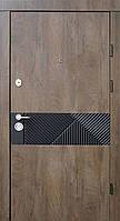 Двери входные металлические Qdoors Ультра Сопрано-М спил дерева коньячный