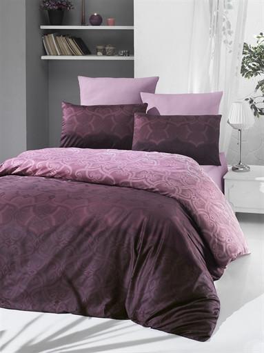Комплект постельного белья Victoria Sateen Pandora Brown 200х220 (2200000551719)