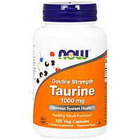 Now Foods, Таурин, Двойная сила, 1000 мг, 100 капсул