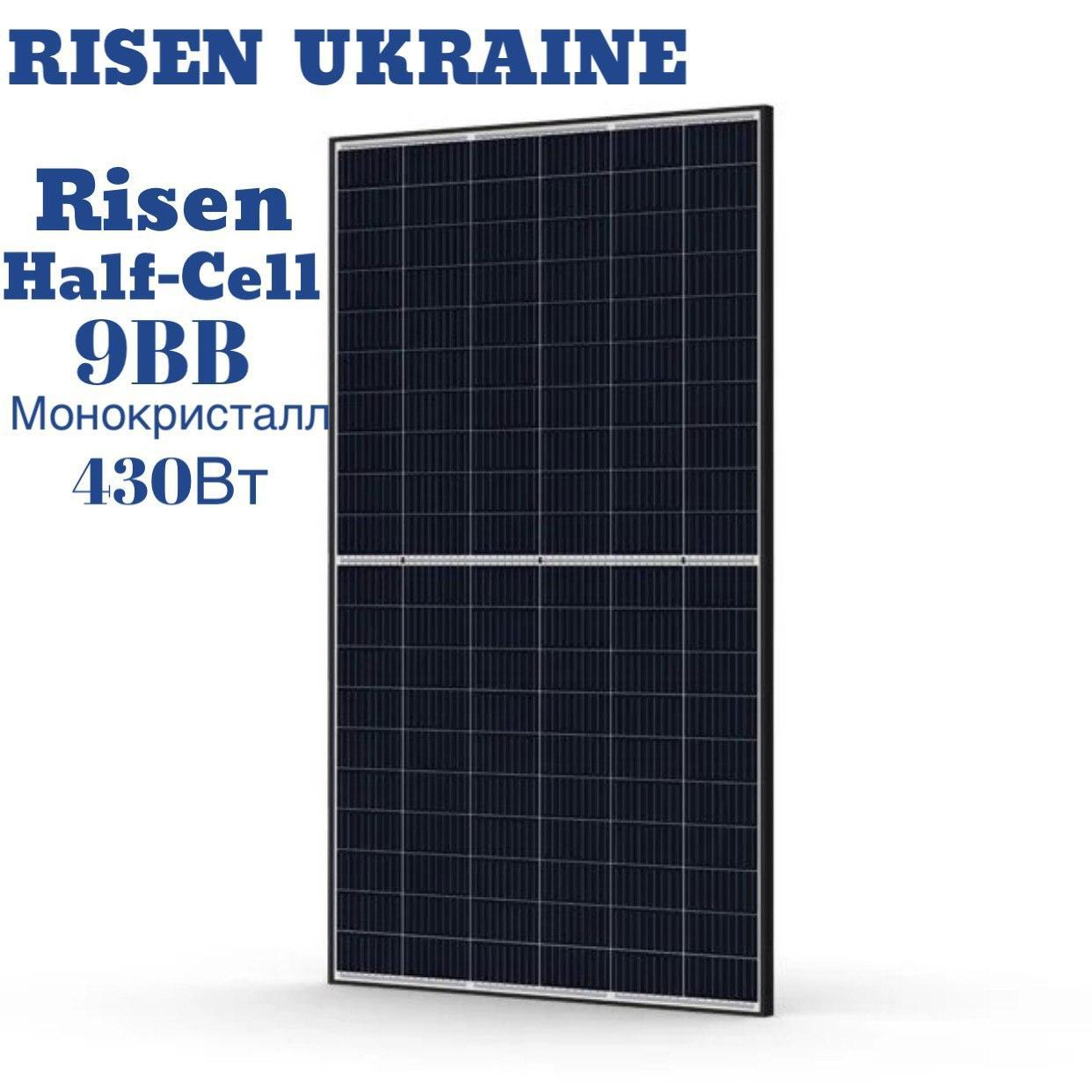Солнечная батарея Risen 430М-156 монокристалл430Вт