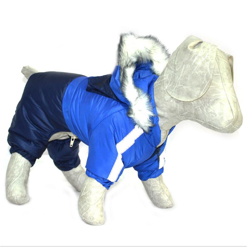 Комбинезон для собак Дуэт синий бэби 18х22