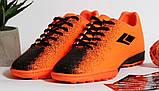 0396 Футбольні бутси для підлітків яскраво-помаранчевого кольору. 38 розмір - 24,5 см по устілці, фото 2