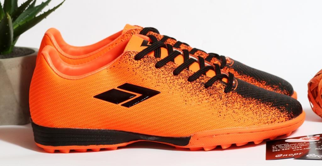 0396 Футбольні бутси для підлітків яскраво-помаранчевого кольору. 38 розмір - 24,5 см по устілці