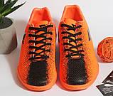 0396 Футбольні бутси для підлітків яскраво-помаранчевого кольору. 38 розмір - 24,5 см по устілці, фото 3