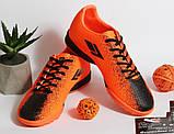 0396 Футбольні бутси для підлітків яскраво-помаранчевого кольору. 38 розмір - 24,5 см по устілці, фото 7