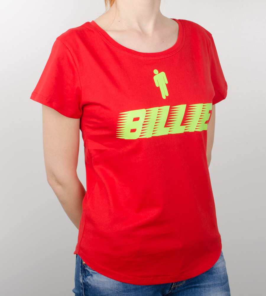 Футболка женская свободного кроя Billie (2032жс), Красный
