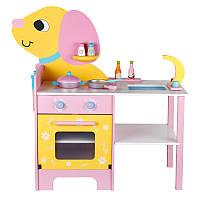 """Детский деревянный кухонный игрушечный набор """"Собачка"""". Игровая кухня. Развивающий подарок для детей"""