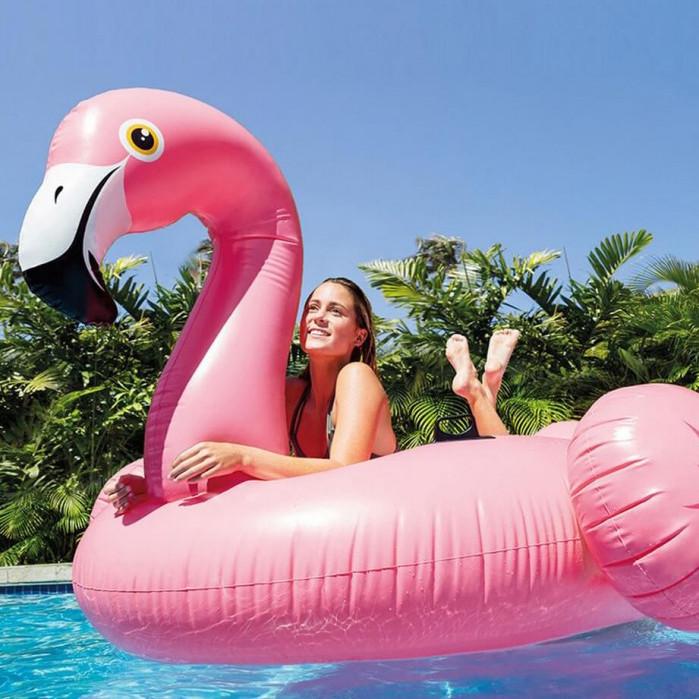 Надувной плот Intex Фламинго средний 142 см