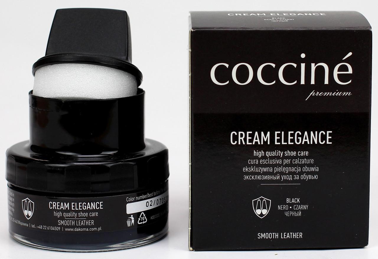 Крем + губка Coccine CREAM ELEGANCE 50мл Черный