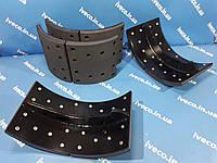 Колодка тормозная Iveco Trakker Eurotrakker Ивеко 42537727 41285024 2992378 2996501 2995824 2992123, фото 1