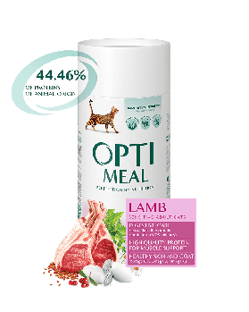 Сухой корм Optimeal Оптимил для кошек с чувствительным пищеварением ягненок, 4 кг