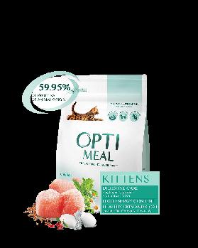 Сухой корм Optimeal Оптимил для котят с курицей, 200 г
