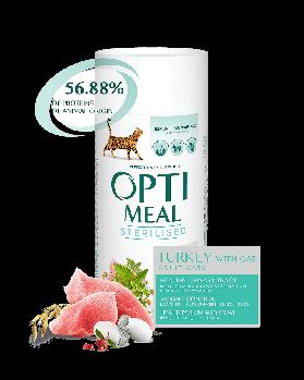 Сухой корм Optimeal Оптимил для стерилизованных кошек индейка и овес, 650 г