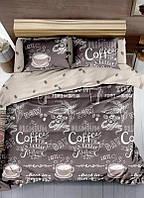 """Комплект постельного белья из ранфорса ТМ """"Ловец снов"""", Кофе"""