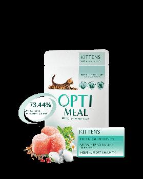 Влажный корм Optimeal Оптимил для котят для здоровья мочевыделительной системы с курицей, 12х85 г