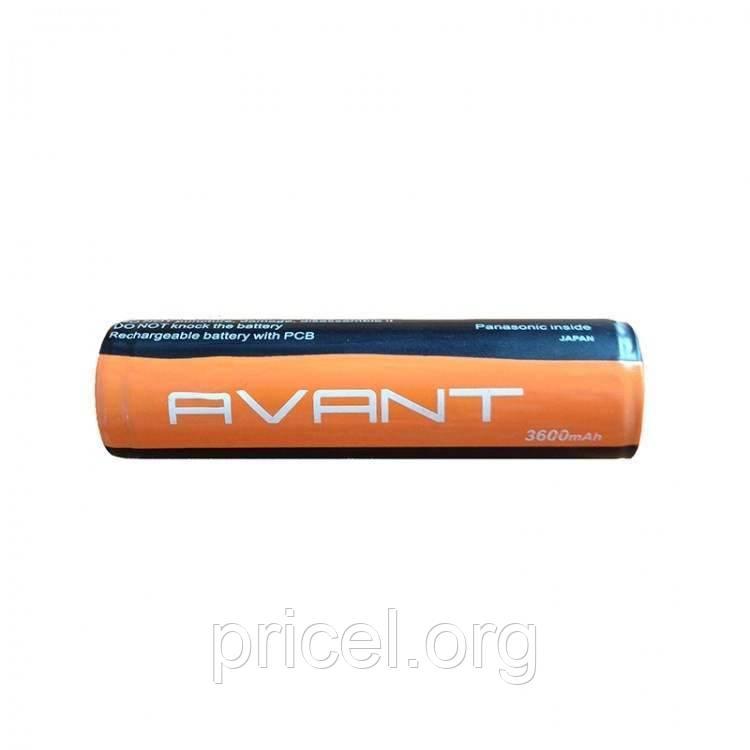 Аккумулятор 18650 3600mAh Avant с защитой (Avant3600)