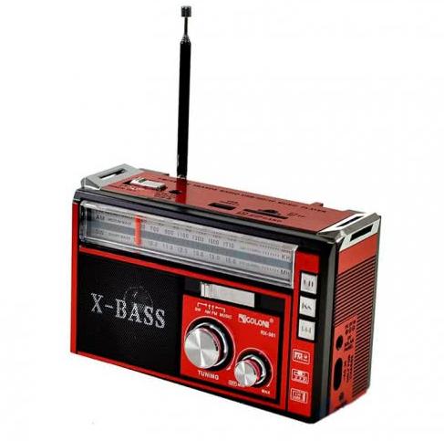 Радиоприемник с USB/SD и LED фонариком Golon RX-381 Красный