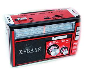 Радиоприемник с USB/SD и LED фонариком Golon RX-381 Красный, фото 2