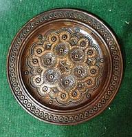 Декоративна дерев'яна тарілка на стіну