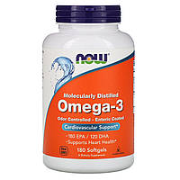 Now Foods, Омега-3, 180 мягких капсул