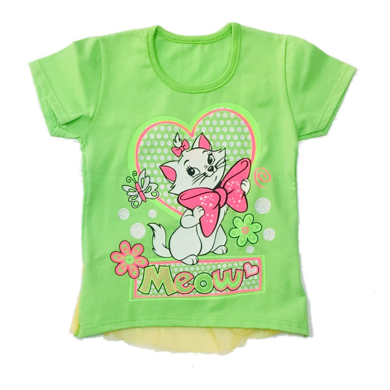 Детская футболка для девочки, 86см