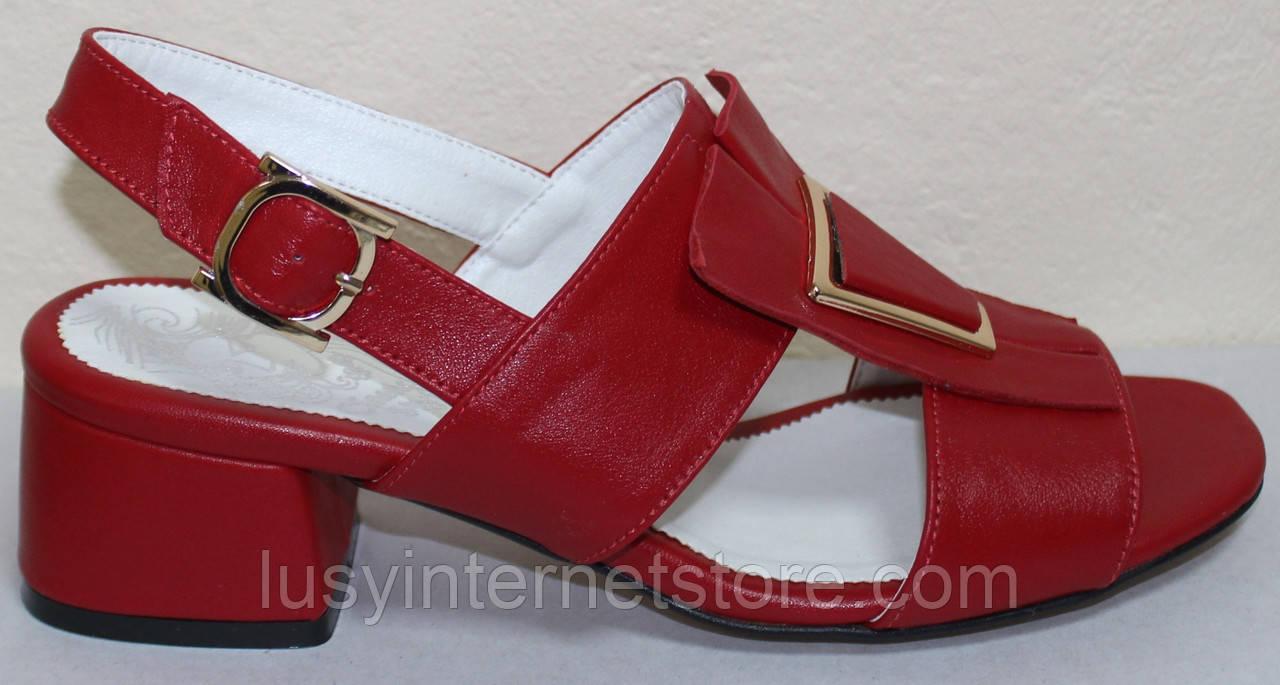 Босоножки на каблуке кожаные от производителя модель КЛ2164-2Р