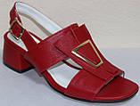 Босоножки на каблуке кожаные от производителя модель КЛ2164-2Р, фото 2