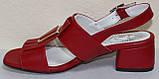 Босоножки на каблуке кожаные от производителя модель КЛ2164-2Р, фото 3