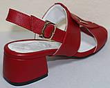 Босоножки на каблуке кожаные от производителя модель КЛ2164-2Р, фото 4