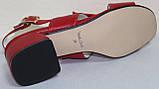 Босоножки на каблуке кожаные от производителя модель КЛ2164-2Р, фото 5