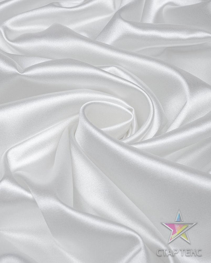 Ткань Атлас Королевский (стрейч плотный) Белый