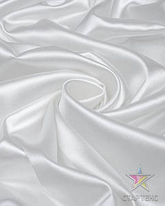 Атлас Королевский (стрейч плотный) Белый