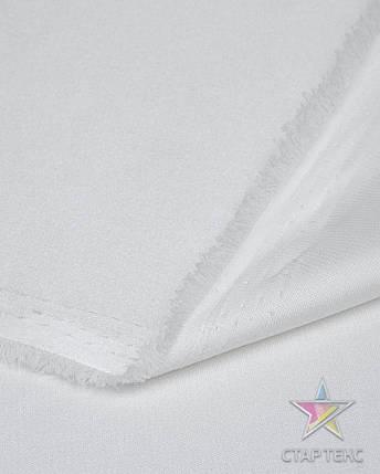 Ткань Атлас Королевский (стрейч плотный) Белый, фото 2