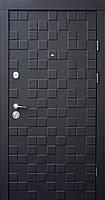 Двери входные металлические Qdoors Ультра Онтарио черный софт/белый супермат