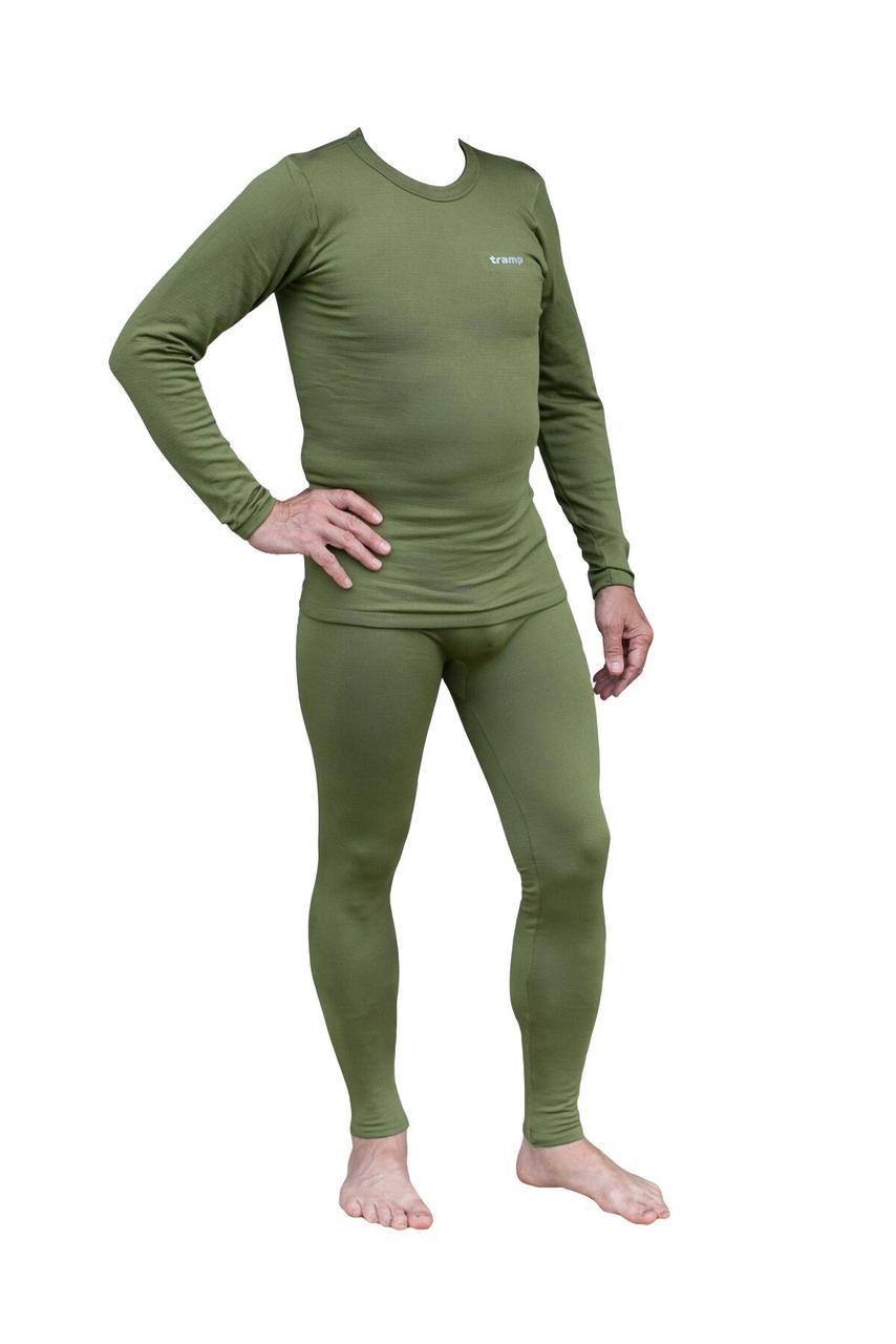 Термобелье мужское Tramp Warm Soft комплект (футболка+кальсоны) TRUM-019 L-XL оливковый Зелёный